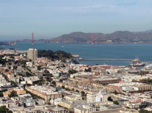 Coit Tower, views from Coit Tower, San Francisco Bay, SF